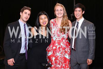 Halcyon Fellows Jeffrey Prost, Ann Yang, Kathleen O'Keefe, Phil Wong. Photo by Tony Powell. 2016 S&R Washington Awards Gala. Evermay. June 4, 2016