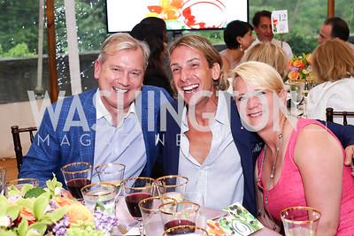 Mark McFadden, Marc Cipullo, Lyn McFadden. Photo by Tony Powell. 2016 S&R Washington Awards Gala. Evermay. June 4, 2016