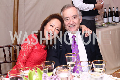 Shigeko Bork, Tim Bork. Photo by Tony Powell. 2016 S&R Washington Awards Gala. Evermay. June 4, 2016