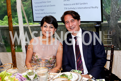 Shamim and Said Jawad. Photo by Tony Powell. 2016 S&R Washington Awards Gala. Evermay. June 4, 2016