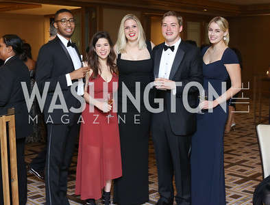 Ade Adeshoye, Leah Koenig, Kylie Davis, Will Davis, Dana Davis. Photo by Tony Powell. 2016 Sibley Hospital Gala. October 29, 2016