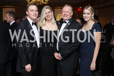 Will Davis, Kylie Davis, Sibley CEO Dr. Chip Davis and Dana Davis. Photo by Tony Powell. 2016 Sibley Hospital Gala. October 29, 2016