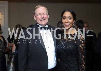 Sibley CEO Chip Davis and Morgan Adessa. Photo by Tony Powell. 2016 Sibley Hospital Gala. October 29, 2016