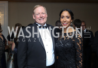 Sibley CEO Chip Davis and Morgan Adessa. Photo by Tony Powell. 2016 Sibley Hospital Gala. October 29, 2016