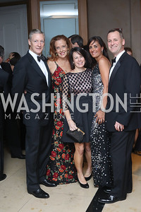 Marty Depoy, Sam Depoy, Jenny Williams, Niloofar Razi Howe, Dr. Jim Williams. Photo by Tony Powell. 2016 Sibley Hospital Gala. October 29, 2016