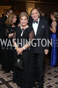 Annie Totah, Leo Sahakian. Photo by Tony Powell. 2016 Sibley Hospital Gala. October 29, 2016