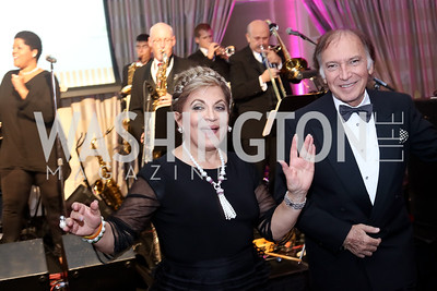 Annie Totah, Leo Sahakian. Photo by Tony Powell. 2016 Sibley Hospital Gala. October 29, 2016
