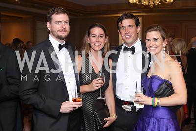 John Taylor, Ashley McDowell, Austin Branson, Maisie Branson. Photo by Tony Powell. 2016 Sibley Hospital Gala. October 29, 2016