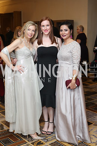 Mimi Burke, Kelly Mufarij, Sumera Haque. Photo by Tony Powell. 2016 Sibley Hospital Gala. October 29, 2016