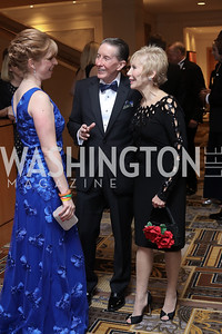 Kristen Pruski, Don and Anne Kelly. Photo by Tony Powell. 2016 Sibley Hospital Gala. October 29, 2016