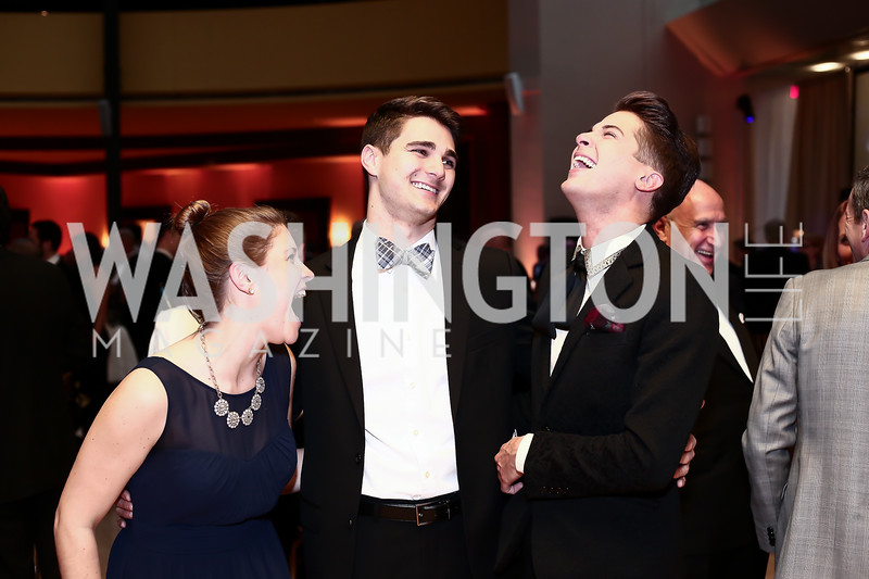 Martha Layman, Austin Colby, Matthew DeLorenzo. Photo by Tony Powell. 2016 Signature Theatre Sondheim Award. Italian Embassy. March 4, 2016