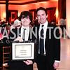 Young Artist Citation Recipient William Yanesh, Signature Associate Artistic Director Matthew Gardner. Photo by Tony Powell. 2016 Signature Theatre Sondheim Award. Italian Embassy. March 4, 2016