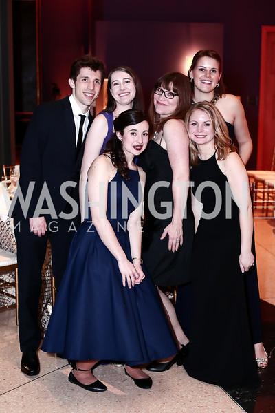 Jacob Schnabel, Katherine Tucker, Amanda Demczuk, Jessica Aimone, Krystle Kline, Laura Matey. Photo by Tony Powell. 2016 Signature Theatre Sondheim Award. Italian Embassy. March 4, 2016