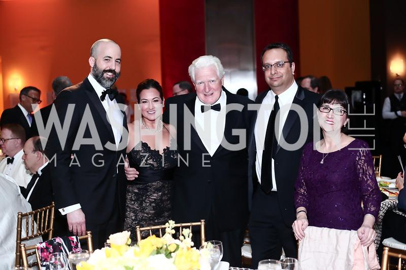 David Ostroff, Sara Jaffe, Jim Moran, Arvind Manocha, Marie Mattson. Photo by Tony Powell. 2016 Signature Theatre Sondheim Award. Italian Embassy. March 4, 2016