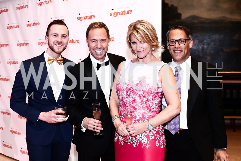 Kevin Williams, Jim Handly, Wendy Rieger, Matt Glassman. Photo by Tony Powell. 2016 Signature Theatre Sondheim Award. Italian Embassy. March 4, 2016