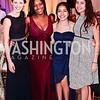 Signature in the Schools' Abby Hendricks, Dorothee Mulumba, Nicole Cardenas, and Rebecca Matos. Photo by Tony Powell. 2016 Signature Theatre Sondheim Award. Italian Embassy. March 4, 2016