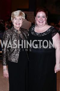 Gala Chair Helen Henderson, Maggie Boland. Photo by Tony Powell. 2016 Signature Theatre Sondheim Award. Italian Embassy. March 4, 2016
