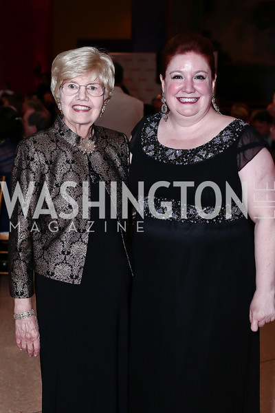 Gala Chair Helen Henderson, Maggie Boland. Photo by Tony Powell. 2016 Signature Theatre Sondheim Award. Italian Embassy. March 4, 2016