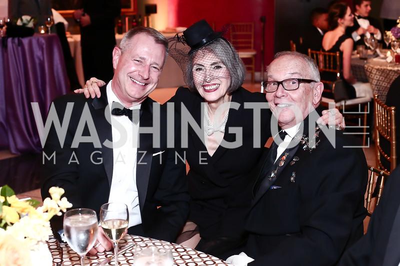 David Wolf, Carol Trawick, Curt Decker. Photo by Tony Powell. 2016 Signature Theatre Sondheim Award. Italian Embassy. March 4, 2016