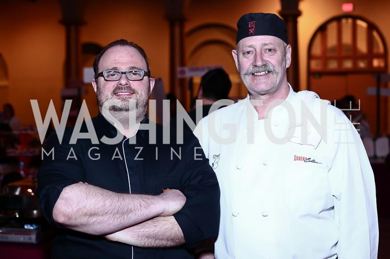 Chef Claudio Pirollo, Chef Bernard Henry. Photo by Tony Powell. St. Jude Gourmet Gala. Building Museum. February 17, 2016