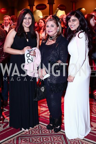 Niki Singh, Annie Totah, Vanita Kataria. Photo by Tony Powell. St. Jude Gourmet Gala. Building Museum. February 17, 2016