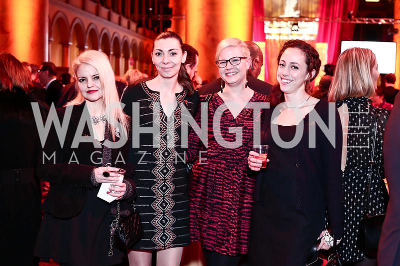 Giane Cavaliere, Dara Jimenez, Mary Elizabeth Davidson, Kathleen McAteer. Photo by Tony Powell. St. Jude Gourmet Gala. Building Museum. February 17, 2016
