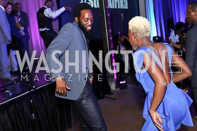 Jeeda Barrington, Danielle DuBois Glover. Photo by Tony Powell. 2016 Step Afrika Gala. Union Market. June 9, 2016