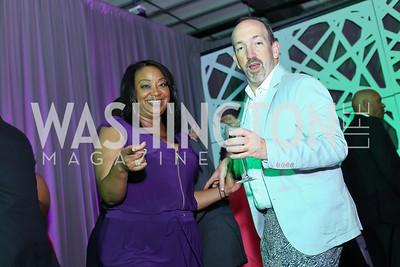 Kim Bassett, Brady Birdsong. Photo by Tony Powell. 2016 Step Afrika Gala. Union Market. June 9, 2016