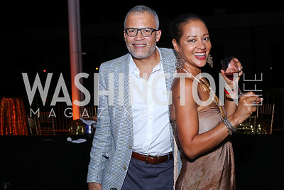Dr. Ben Watkins and Natasha Watkins. Photo by Tony Powell. 2016 Step Afrika Gala. Union Market. June 9, 2016
