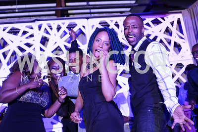 Jena Bell, Mfon Akpan, Ta'Quez Whitted, Shannan Johnson, Christopher Brient. Photo by Tony Powell. 2016 Step Afrika Gala. Union Market. June 9, 2016