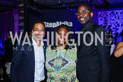 Brian Williams, Kaya Henderson, Andre Wells. Photo by Tony Powell. 2016 Step Afrika Gala. Union Market. June 9, 2016