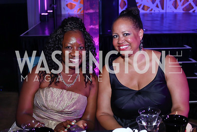 Gail Earle, Nicole Venable. Photo by Tony Powell. 2016 Step Afrika Gala. Union Market. June 9, 2016