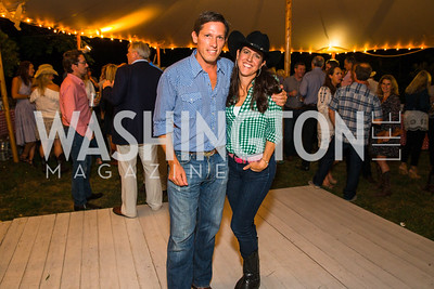 Brooke Stroud Carnot, Lindsay Stroud,  Photo by Alfredo Flores. 2016 Stroud Foundation Hoedown in Georgetown‏. Home of Brooke and Stephane Carnot. September 17, 2016
