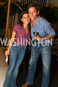 Alison Cricks, Lindsay Stroud. Photo by Alfredo Flores. 2016 Stroud Foundation Hoedown in Georgetown. Home of Brooke and Stephane Carnot. September 17, 2016