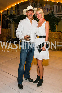 John Rosenthal, Whitney Rosenthal. Photo by Alfredo Flores. 2016 Stroud Foundation Hoedown in Georgetown‏. Home of Brooke and Stephane Carnot. September 17, 2016