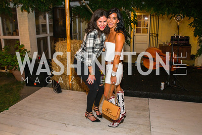 Alyse Cohen, Bethany Scanlon. Photo by Alfredo Flores. 2016 Stroud Foundation Hoedown in Georgetown‏. Home of Brooke and Stephane Carnot. September 17, 2016