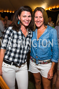 Mary Katherine Stinson, Shannon Stroud. Photo by Alfredo Flores. 2016 Stroud Foundation Hoedown in Georgetown‏. Home of Brooke and Stephane Carnot. September 17, 2016