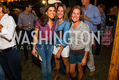 Alison Cricks, Shannon Stroud, Megan Darby. Photo by Alfredo Flores. 2016 Stroud Foundation Hoedown in Georgetown‏. Home of Brooke and Stephane Carnot. September 17, 2016