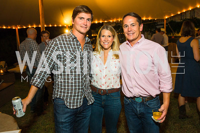 Victor Maddux, Blair Bourne, Josh Bourne. Photo by Alfredo Flores. 2016 Stroud Foundation Hoedown in Georgetown‏. Home of Brooke and Stephane Carnot. September 17, 2016