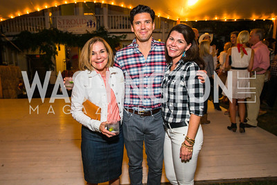 Barbara Goodwyn, Brandon Goodwynm, Mary Katherine Stinson. Photo by Alfredo Flores. 2016 Stroud Foundation Hoedown in Georgetown‏. Home of Brooke and Stephane Carnot. September 17, 2016