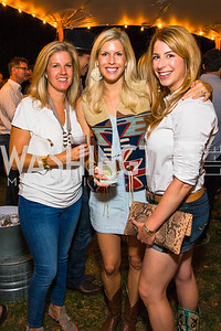 Candice Mulchaly, Elizabeth Brooks, Kendall Vincent. Photo by Alfredo Flores. 2016 Stroud Foundation Hoedown in Georgetown‏. Home of Brooke and Stephane Carnot. September 17, 2016