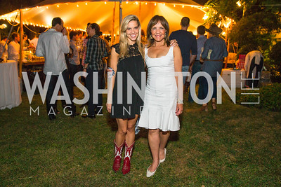 Barbara Harrison, Alexandra Corriea. Photo by Alfredo Flores. 2016 Stroud Foundation Hoedown in Georgetown‏. Home of Brooke and Stephane Carnot. September 17, 2016