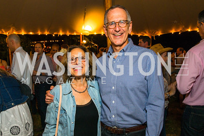 Margot Bisnow, Mark Bisnow. Photo by Alfredo Flores. 2016 Stroud Foundation Hoedown in Georgetown. Home of Brooke and Stephane Carnot. September 17, 2016