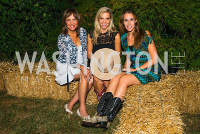Barbara Harrison, Alexandra Corriea, Laura Vazquez. Photo by Alfredo Flores. 2016 Stroud Foundation Hoedown in Georgetown‏. Home of Brooke and Stephane Carnot. September 17, 2016