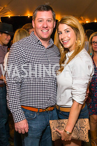 George D. Vincent Jr., Kendall Vincent. Photo by Alfredo Flores. 2016 Stroud Foundation Hoedown in Georgetown. Home of Brooke and Stephane Carnot. September 17, 2016