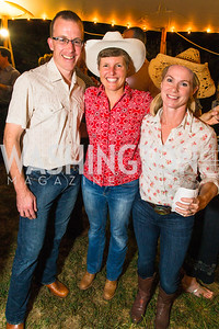 Ned Johnson, Vanessa Johnson, Paige Kerill. Photo by Alfredo Flores. 2016 Stroud Foundation Hoedown in Georgetown‏. Home of Brooke and Stephane Carnot. September 17, 2016