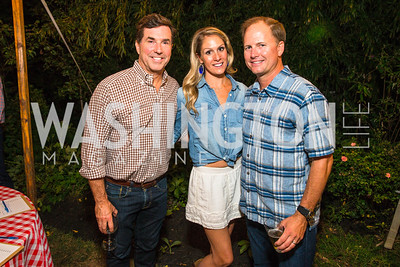 Bobby Schwartz, Alex Thomas, Cabell Maddux. Photo by Alfredo Flores. 2016 Stroud Foundation Hoedown in Georgetown. Home of Brooke and Stephane Carnot. September 17, 2016