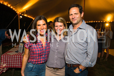 Allison Cricks, Shannon Taylor, Andrew Taylor. Photo by Alfredo Flores. 2016 Stroud Foundation Hoedown in Georgetown‏. Home of Brooke and Stephane Carnot. September 17, 2016