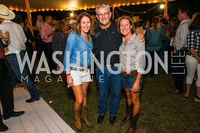 Shannon Stroud, Gael Delany, Megan Darby. Photo by Alfredo Flores. 2016 Stroud Foundation Hoedown in Georgetown‏. Home of Brooke and Stephane Carnot. September 17, 2016