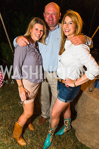 Shannon Taylor, Bo Blair, Kendall Vincent. Photo by Alfredo Flores. 2016 Stroud Foundation Hoedown in Georgetown‏. Home of Brooke and Stephane Carnot. September 17, 2016